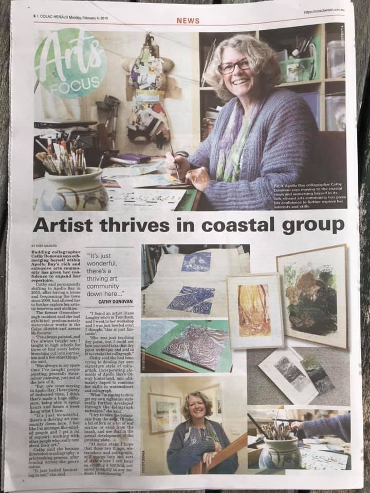 Colac Herald Article Cathy Donovan Artist Profile