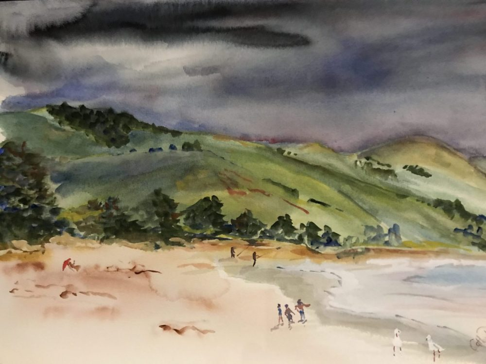 Storm Approaching by Cathy Donovan Watercolour Artist