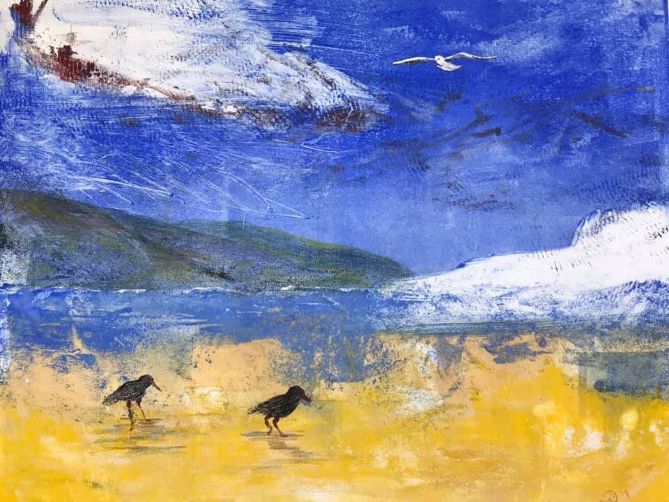 Monotype Workshops and Classes in Apollo Bay with Cathy Donovan Printmaker